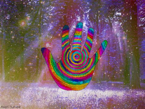 Trippy Mine Psychedelic Hand Forest Woods Cosmic Vufus