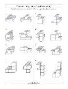 Geometry Assignment Worksheet Building Connecting Cube Structures A
