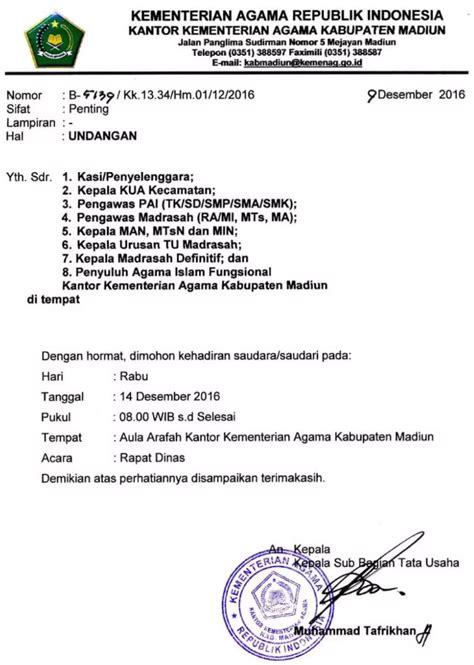 Contoh Undangan Resmi Karyawan by 18 Contoh Contoh Surat Undangan Rapat Resmi Terbaru 2019