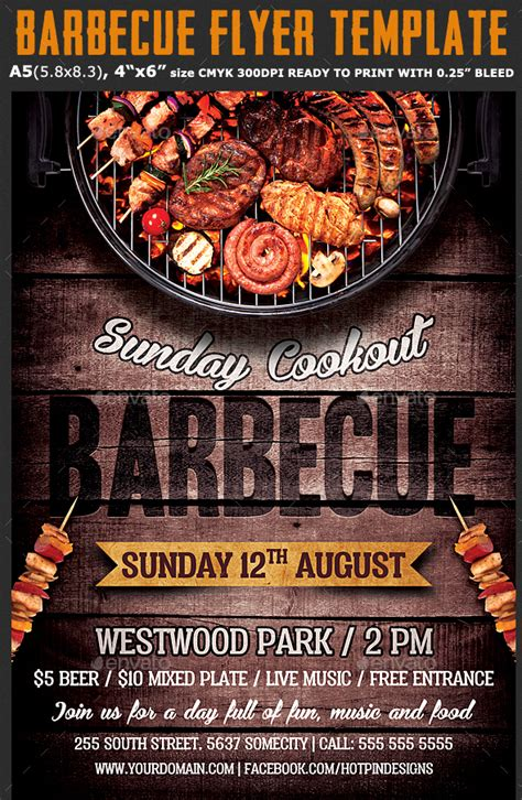 psd barbeque flyer templates