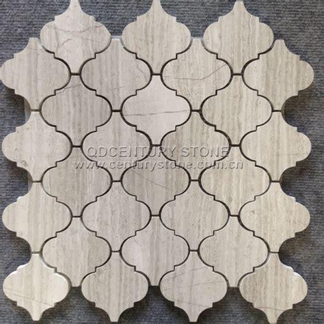 premium mosaics white marble lantern mosaic