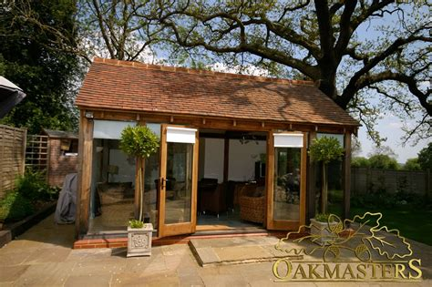 small glazed garden room in buckinghamshire oakmasters