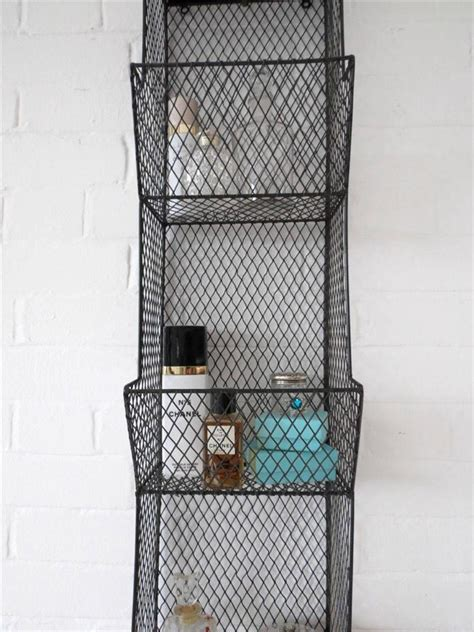 wire hanging shelf bathroom wall rack metal wire shelf shelving ebay