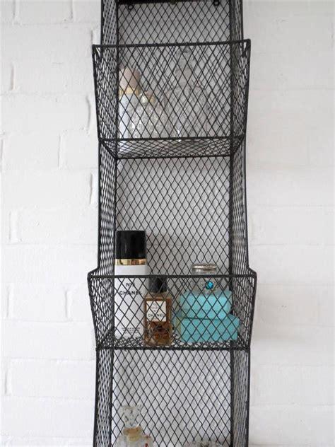 Bathroom Wall Rack Metal Wire Shelf Shelving Ebay