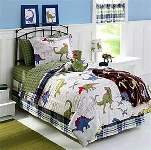 Dinosaurs, Dinos, Twin, Comforter, Sheet, Set, Sham, Home