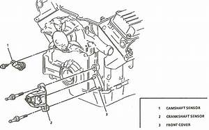 Where Is The Camshaft Sensor Located On A 1993 Oldsmobile 98 Regecy With The 3800 Series Engine