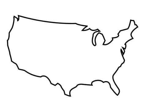 Printable United States Outline