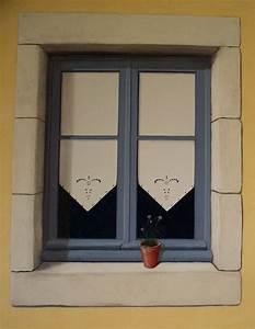 Trompe L Oeil Fenetre Exterieur : fausse fen tre acrylique sur toile photo de d cors et trompe l 39 oeil sophie lafeuillade ~ Melissatoandfro.com Idées de Décoration