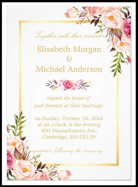 floral wedding invitation designs word psd ai eps