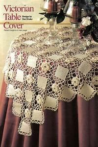 Pretty Victorian Table Cover Doily  Crochet Pattern