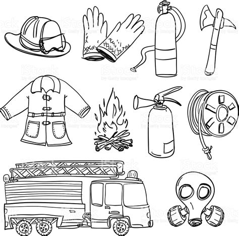 13000 firefighter clipart black and white firefighter equipment clipart 86
