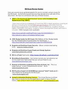Rd Exam Review Guides