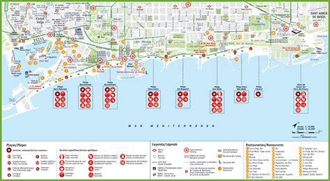 Carte Des Plages De by Carte De Barcelone Cartes Plans De Barcelone