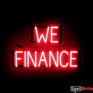 WE FINANCE Signs