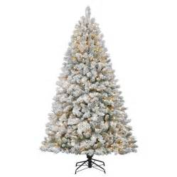 4 Ft Pre Lit White Christmas Tree by Holiday Living 7 Ft Pre Lit Flocked Fir Artificial