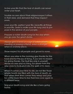 Tecumseh poem from Act of Valor | Gentlemint