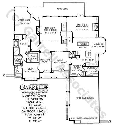 Brighton Homes Floor Plans by Brighton House Plan House Plans By Garrell Associates Inc