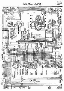 Complete Wiring Diagram For 1957 Chevrolet V8 One Fifty