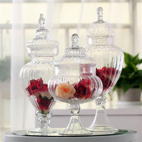 transparent glass jar with a lid jar large food storage tank canister storage bottle