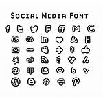 Social Icons Font Bold Fonts Behance Character
