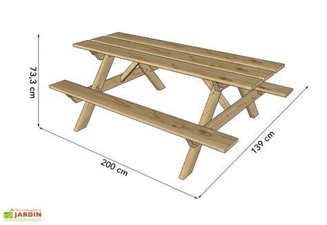 Table De Piquenique En Bois Autoclave 200 Cm 28 Mm Picnic