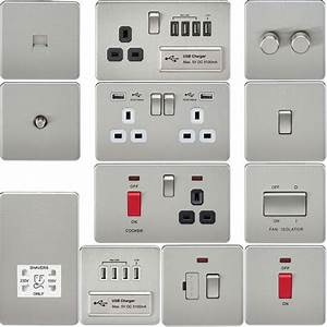 Screwless Flat Plate Electrical Light Switches  U0026 Plug