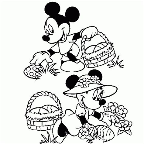 Easter Colouring Mickey Mouse Coloruing Sheet