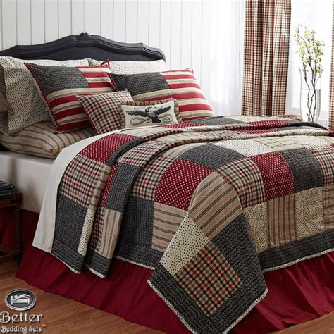 Red  White Quilt Sets Solid Twin Comforter Home Decor