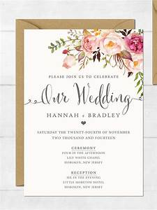 16 printable wedding invitation templates you can diy With wedding invitation template html5