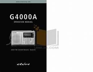 Download Free Pdf For Eton G4000a Radio Manual