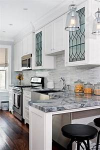 kitchen with leaded glass cabinets transitional kitchen With best brand of paint for kitchen cabinets with led wall art lighting