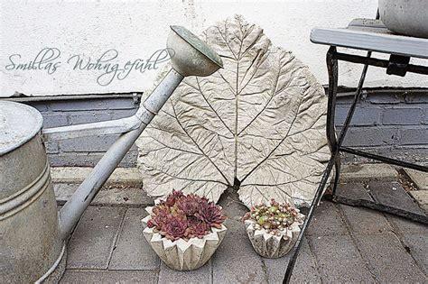 Schale Giessen Blaetter Und Beton by Diy Concrete Leaves Bl 228 Tter Aus Zement Smillas Wohngef 252 Hl