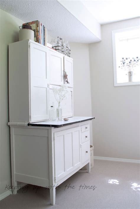 The Cabinet - a summery new look for my hoosier cabinet keeping with