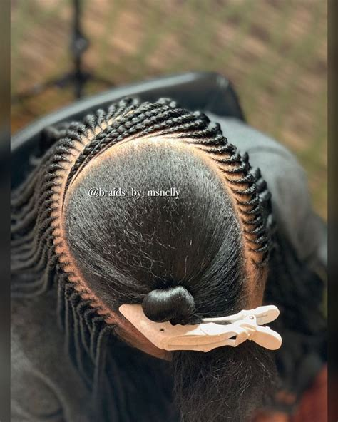 middle layer   side part  layered tribal braid style braided hairstyles braids  black
