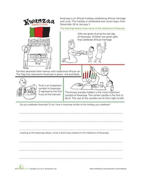 kwanzaa worksheets grade worksheets for all