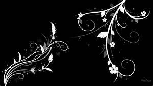 flores preto e branco do papel de parede