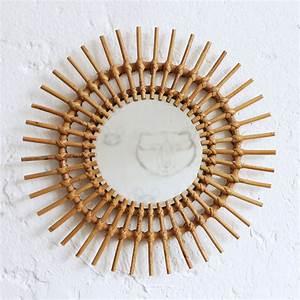 Petit Miroir Rotin : miroir en rotin ancien atelier du petit parc ~ Melissatoandfro.com Idées de Décoration