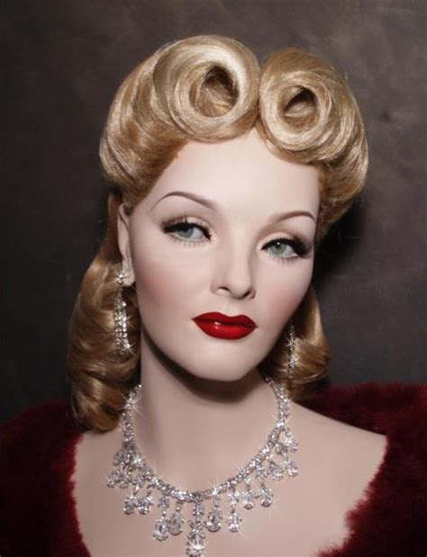 1940's Mannequin with Victory rolls   Hair!   Pinterest