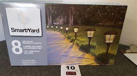 smart yard led solar pathway lights 8 pk sota surplus