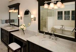 huge double sink vanity with makeup table new house