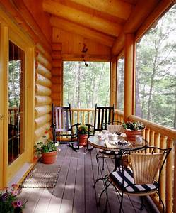 30, Gorgeous, And, Inviting, Log, Cabin, Style, Porch, Decorating, Ideas