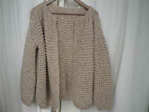 Pull Laine Homme Grosse Maille : gilet court grosse maille laine et tricot ~ Melissatoandfro.com Idées de Décoration