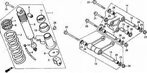 Honda Motorcycle 1989 Oem Parts Diagram For Shock Absorber