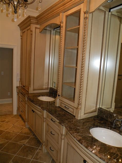 custom classical french master bathroom  zci woodworks