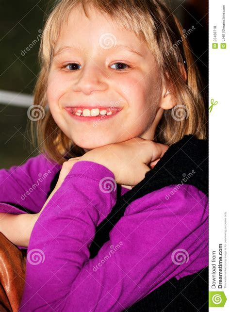 shy big smile stock photo image  face girl head