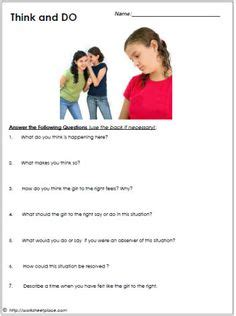 bullying worksheets and anonymous on pinterest