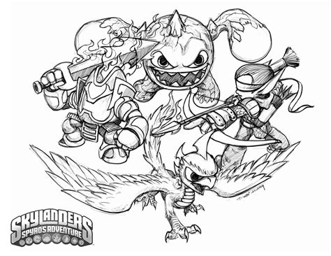 Skylanders Trap Team Coloring Pages Free Free Coloring Books