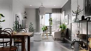 Scandinavian, Home, Design, With, Gray, And, White, Decor
