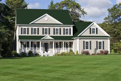 green metal roof google search house colors