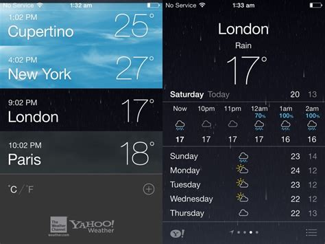 weather apps for iphone ios 7 features redesigned app weather maps and